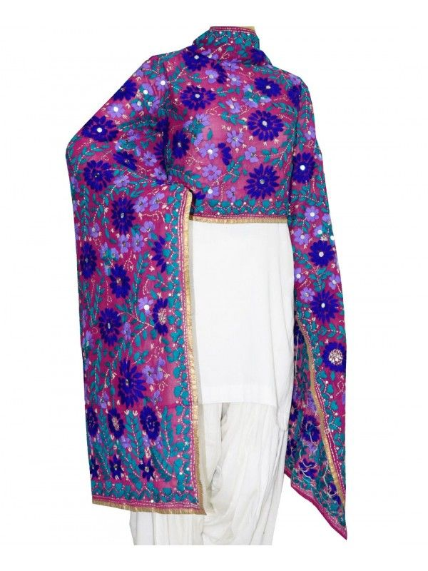 Super Georgette Dupatta Super Georgette Dupatta Handicraft,  Lenght 2.3 Meter, Width 0.88 Meter,  Handwash/Dry Clear,  Cloth - Georgette,  You can also buy the plain punjabi suit as displayed in the picture Shop Now ;