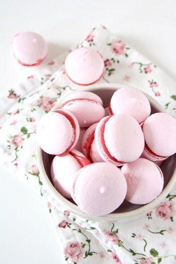 Macarons with Raspberry Buttercream