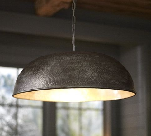 Townsend Oversized Hammered Pendant | Pottery Barn