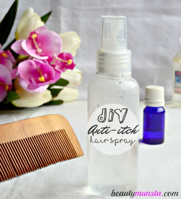 Got a dry itchy scalp? Then you gotta make this cooling, soothing and antibacterial DIY anti-itch hair spray!