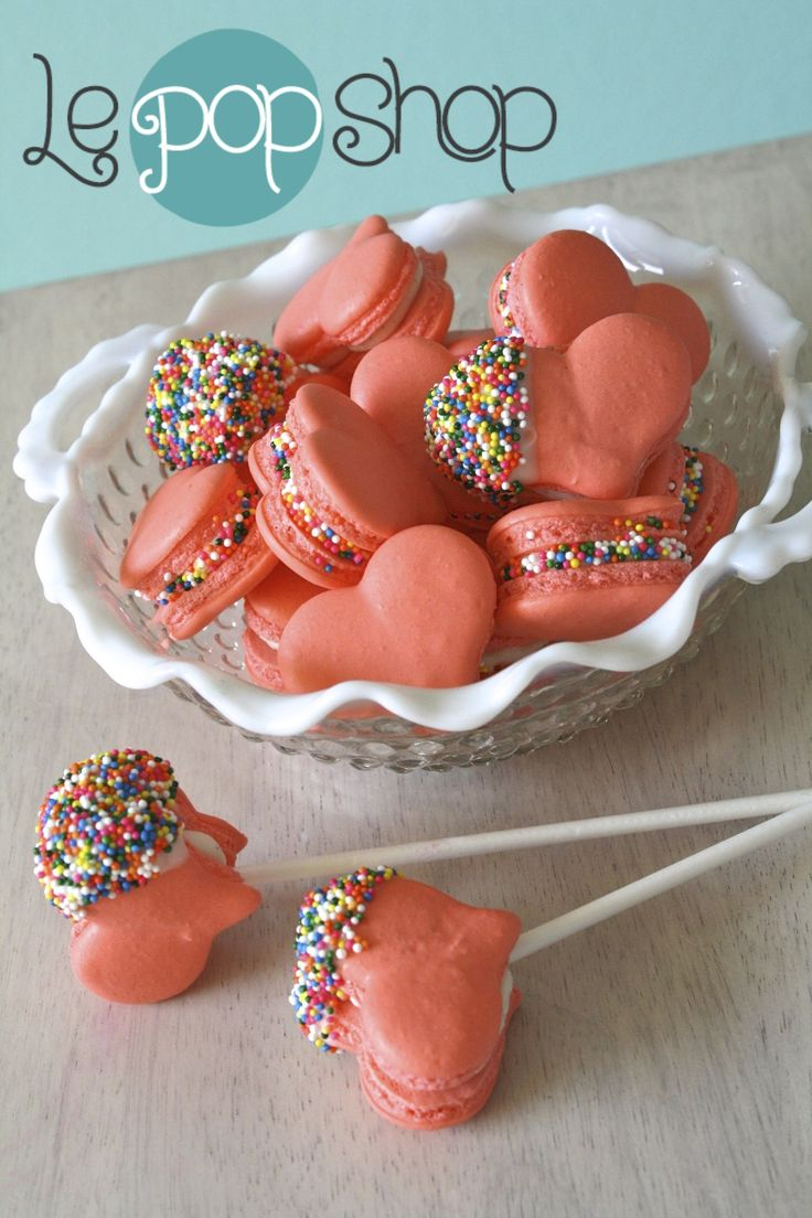 Sweetheart Macaron Pops original design by Le Pop Shop