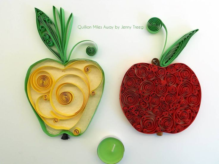 Project8: Passionate Fruits #quilling #art #quillingart #artist #jennytreeg #madebyme  #handmade #paper #colors #fruit #gift #present #red #green #apple #apples