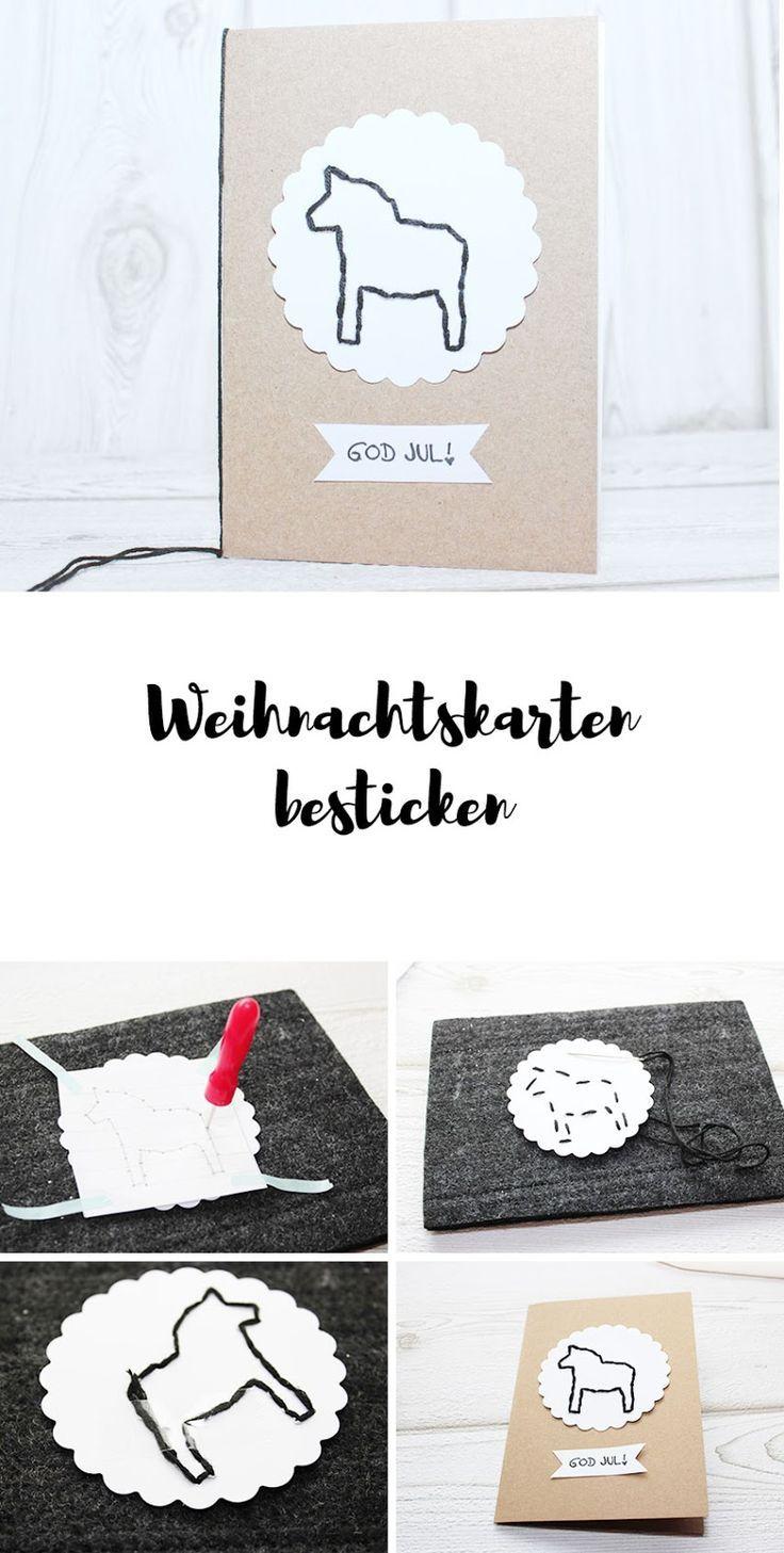69 besten Weihnachtskarten - Inspiration und selber machen Bilder ...