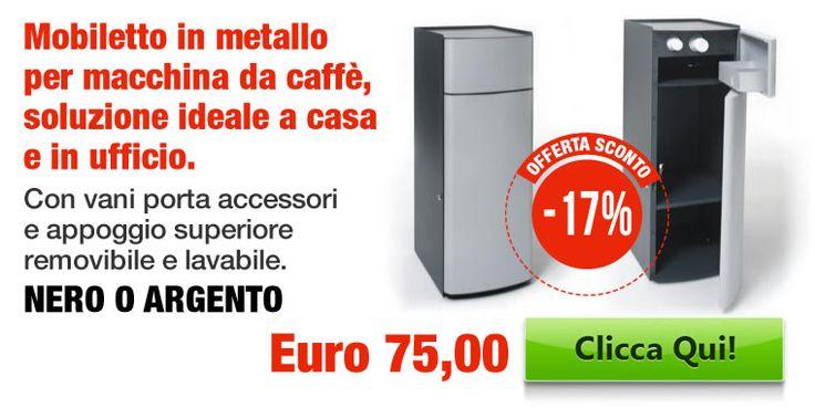 Mobiletto in metallo per macchina da caffè, soluzione ideale a casa e in ufficio