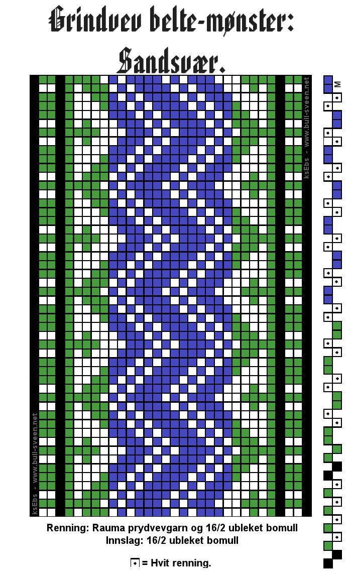 Enkle mønster til grindvev: Mønster til lokale belter: Undersider og poster: Latvisk blomsterband ...