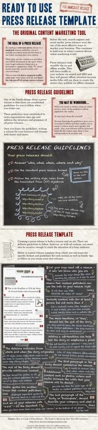 Ready to Use Press Release Template [Infographic]