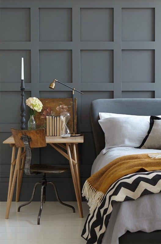 Grey Bedroom #LittleGreene Encuentra sus pinturas en nuestra tienda de #Barcelona (C/Aribau nº71)