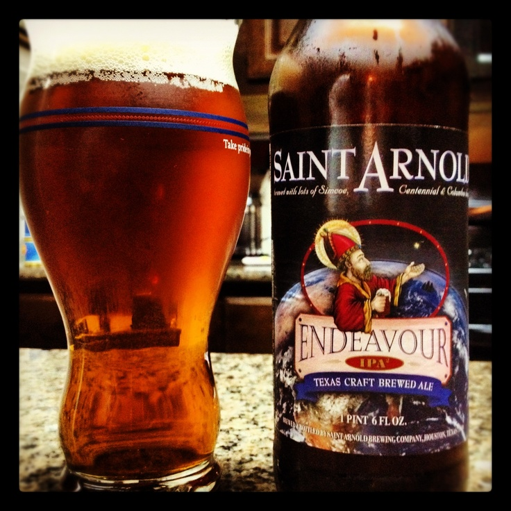 St. Arnold Endeavor Double IPA - super fruity with LOTS of grapefruit notes