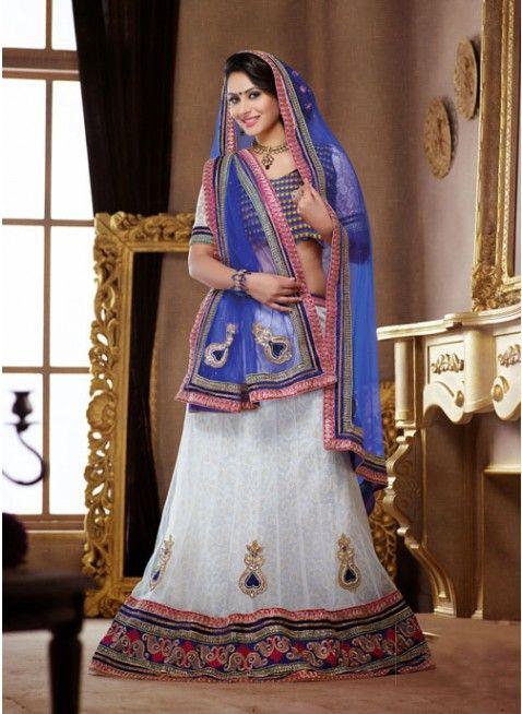 Alluring Off White color Net Based #Lehenga Choli