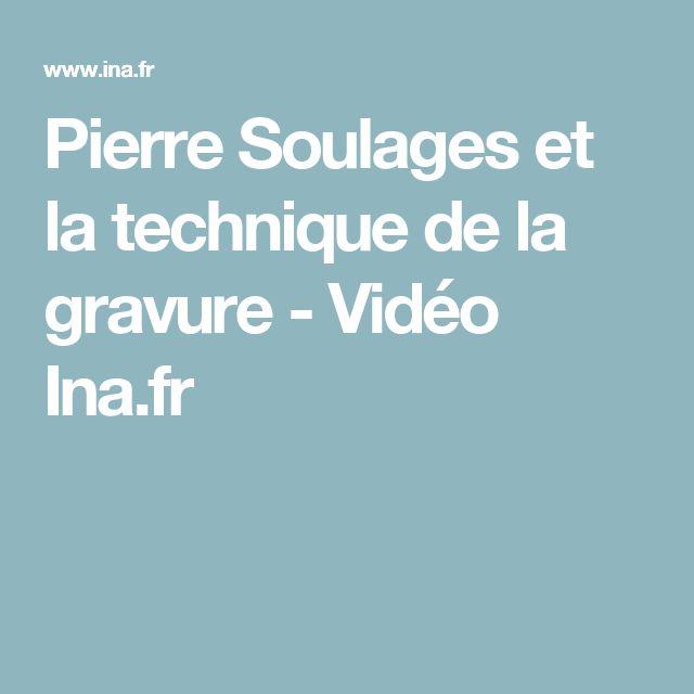 Pierre Soulages et la technique de la gravure - Vidéo Ina.fr
