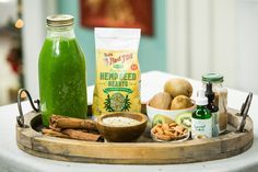 "Get your greens in with @sophieuliano's ""Greens"" smoothie! For more healthy recipes tune in to Home & Family weekdays at 10a/9c on Hallmark Channel!"