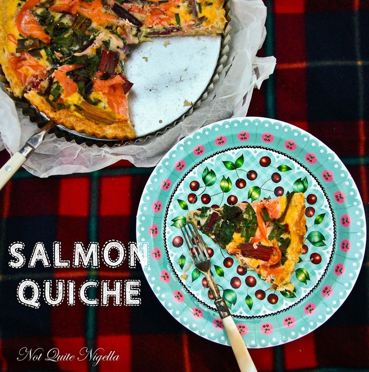Smoked Salmon & Rainbow Chard Quiche & Win Tasmanian Smoked Salmon!
