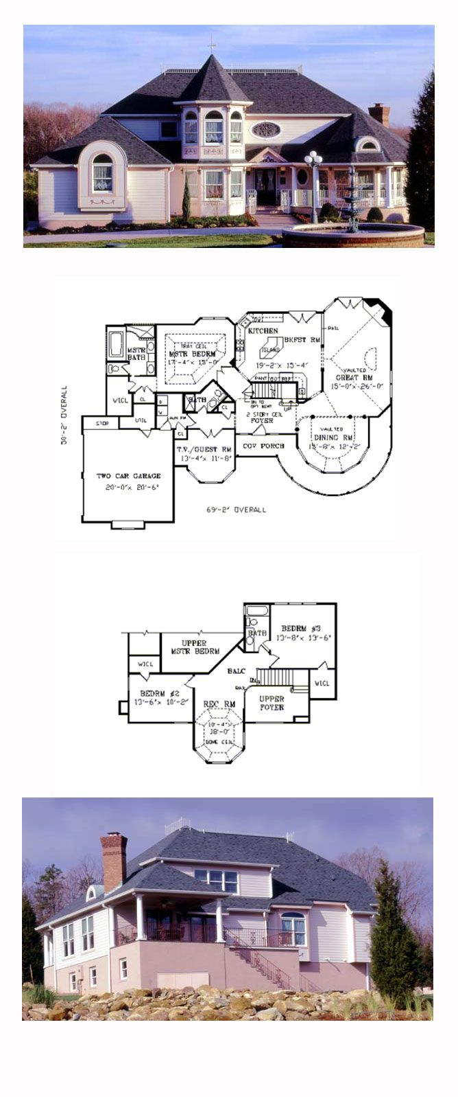 Tuscan House Plan 69511 | Total Living Area: 2696 sq. ft., 4 bedrooms and 2.5 bathrooms. Copyright by designer. #victorianhome