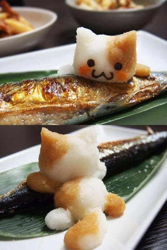 日本人のごはん: 大根おろしアート Japanese meals /Edible Art