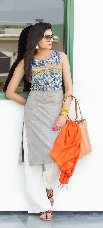 #cool #comfort #summers #kurta #pants #fashion #women #Fabindia