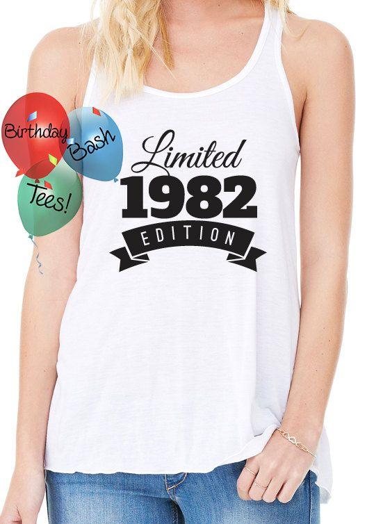 Birthday Gift Ideas for Girlfriend 1982 by BirthdayBashTees