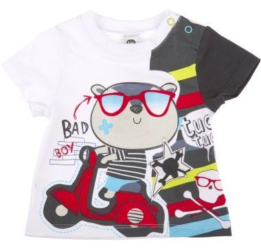 Camiseta combinada be bad be bad, para nino - tuc tuc