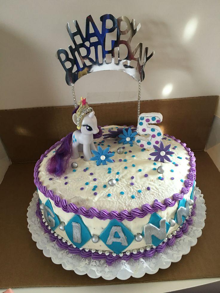 Rarity birthday cake