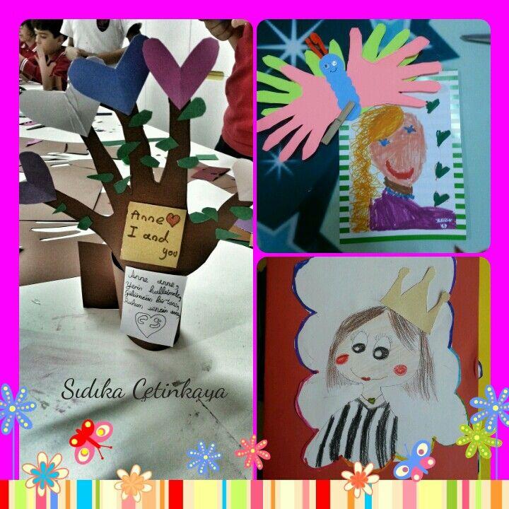 """Okulöncesi#2.sınıflar # 3. Sınıflar #"""" Anneler Günü"""" Etkinlik#Görsel Sanatlar Dersi# Özel Pev Okulları#Anneler Gününüz Kutlu Olsun"""