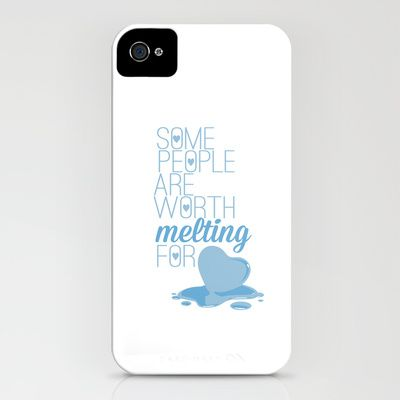 frozen.. some people are worth melting for... olaf funny quote iPhone & iPod Case by studiomarshallarts | Society6