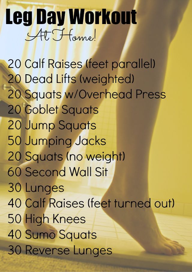 "Great ""leg day"" workout you can do at home!"