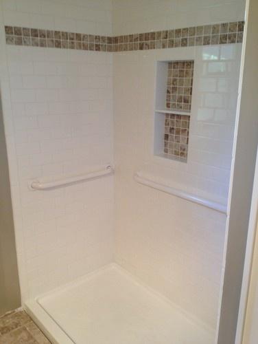 Die besten 25+ Recessed shower shelf Ideen auf Pinterest - kleines badezimmer mit dusche