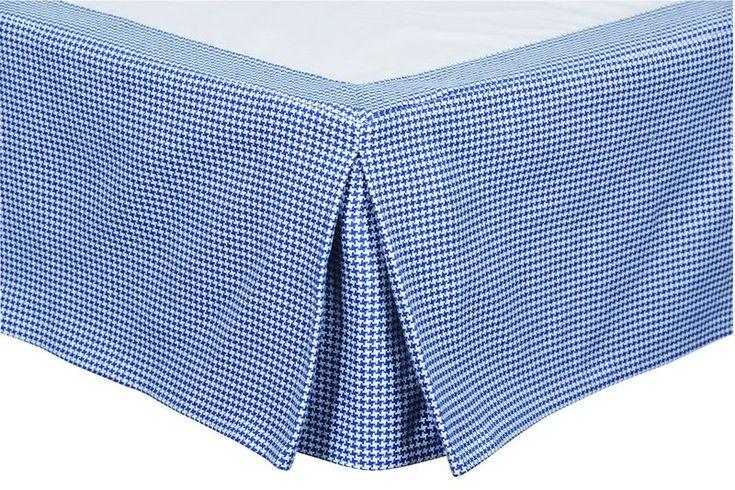 Cache-Sommiers Brighton tissu pied de poule & plateau satinette 90x190 - Autrement dit