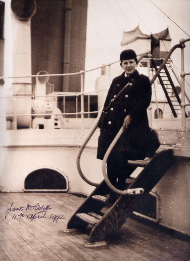 A 1992 signed picture of Titanic survivor Jack Odell, who is shown here at the age of 11 on board the Titanic. The Odell party of six, including a young man studying for the priesthood Francis W. Browne, boarded the Titanic for the first two legs of the maiden voyage from Southampton, England to Cherbourg, France and then on to Queenstown, Ireland where they disembarked. Only seven passengers left the ship in Ireland.