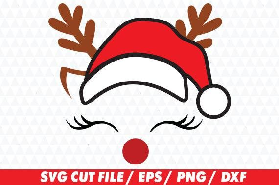 Reindeer face svg Christmas file for Cricut and Silhouette Studio. You will receive the following: - 1 SVG Files - 1 DXF Files- for use with the basic silhouette studio - 1 EPS Files - 1 PNG Files- High resolution, 300 dpi, transparent background for use as clipart NOTE- This is a