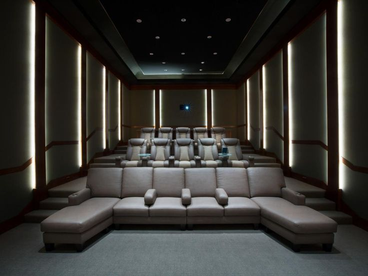 Equipment in this theater includes a total of 30 loudspeakers, 14 subs and 55 amplifier channels integrated to create an incredible 15.1 channel audio system. For a high-tech cinematic viewing experience, a Dolby 3D projection system produces a realistic, high frame-rate 3D image.