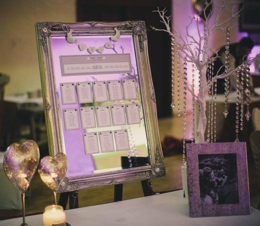 glittering mirror table plan