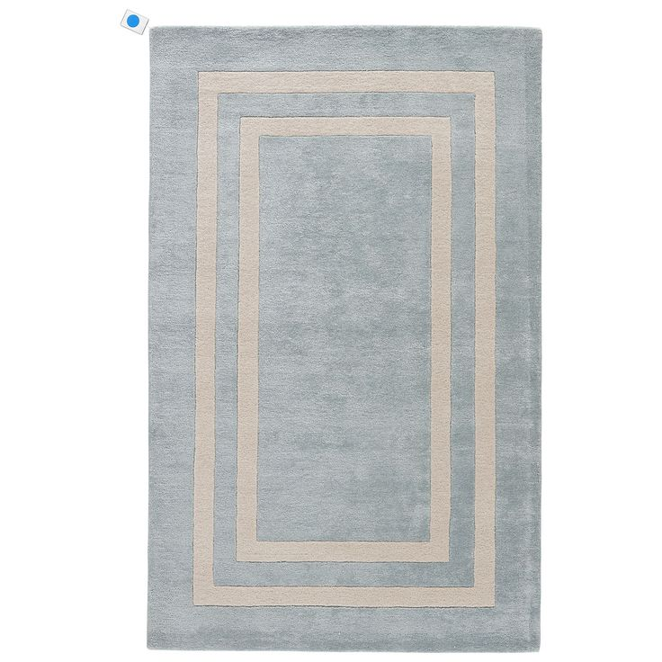our home décor motto: buy what you love and you'll never go wrong. like this double border rug--it's an elegant foundation for a so-you room.