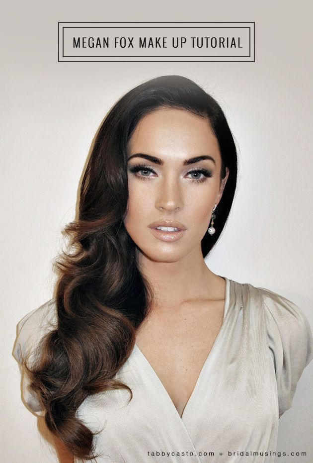 Megan Fox make up step by step tutorial - perfect for wedding make up! By London based make up artist, Tabby Casto.