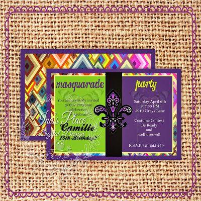 It's Carnival Time!! - Invitaciones Digitales
