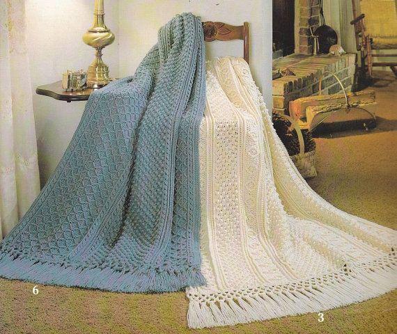 Fisherman Afghan Crochet Pattern 6 Designs Aran Home ...