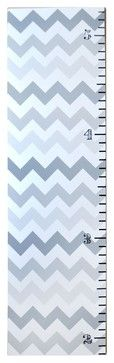 New Arrivals Growth Chart, Ombré Chevron, Gray - contemporary - Kids Decor - Layla Grayce
