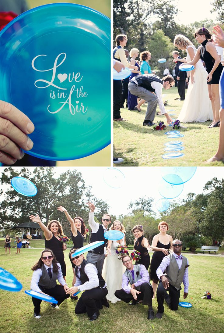 Love this! Park wedding. Tom would love this especially if we chose a park for the venue and it had a disc golf course on it : )