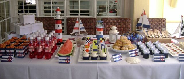 Nautical Sailor Party Dessert Table Nautical Party Ideas