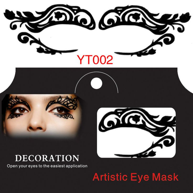 Eye stickers YT002 new hollow artistic face eye mask fashion eyes sticker eyes make up tools party items 10 pairs/lot