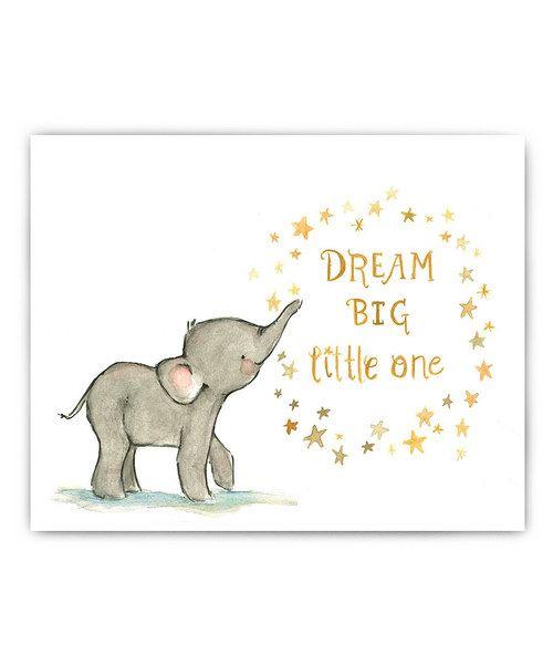 'Dream Big' Elephant Print
