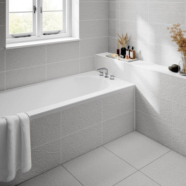 White Tile Floor Bathrooms Feels Free To Follow Us In 2020