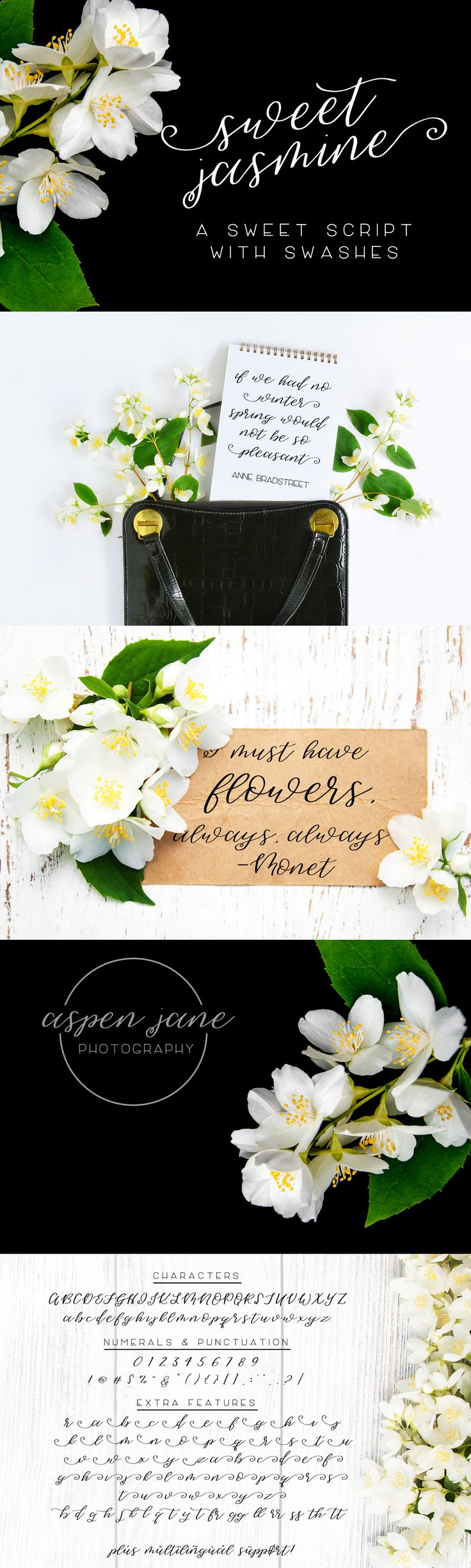 cursive fonts for wedding cards%0A Sweet Jasmine  a beautiful  handlettered script font  perfect for your next