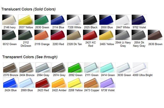 Colored Cast Acrylic Rod (Unpolished)