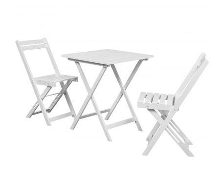 vidaXL 3-tlg. Bistro-Set Balkon-Set Weiß Akazienholz 68,99 €