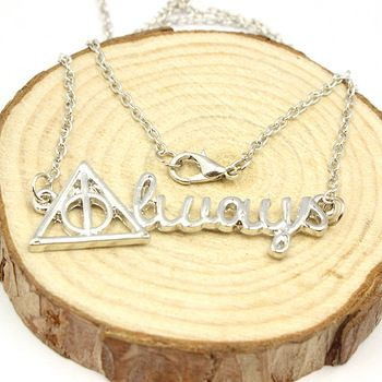 Harry Potter Always Silver Plated Necklace //Price: $8.49 & FREE Shipping //