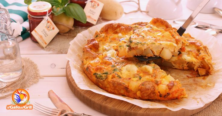 Frittata al forno con patate, cacio e nduja