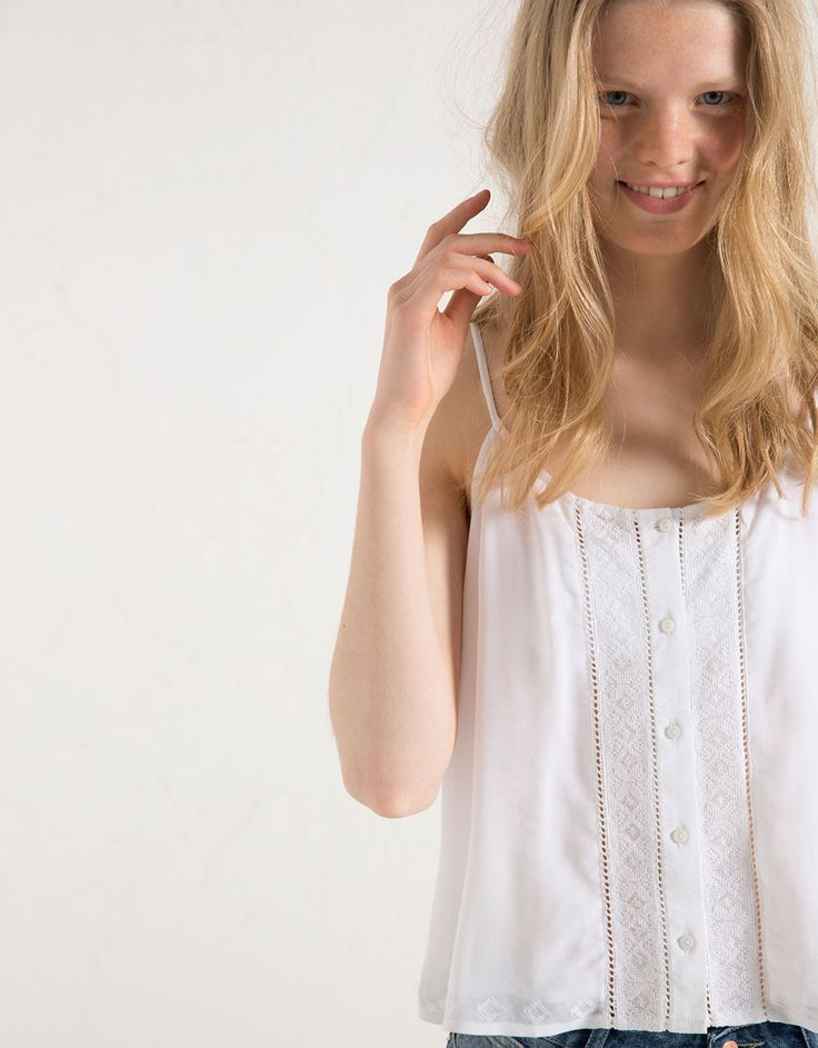 BSK ethnic embroidered top - Girl - Bershka Switzerland