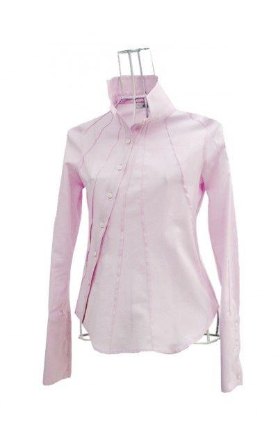 Chemise business femme en coton piqué rose OSAKA Ken Okada