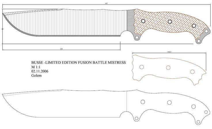 Plantillas para hacer cuchillos