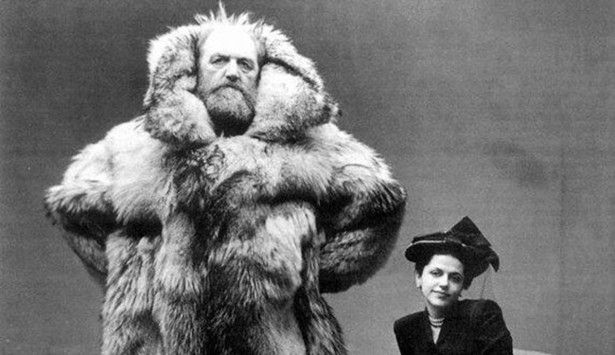 "greatest husband-and-wife photo ever. 5. This is Arctic explorer Peter Freuchen and his third wife, fashion illustrator, Dagmar Cohn (later Dagmar Freuchen-Gale). Every day he was away on polar expeditions, he sent Dagmar a letter and copied the Danish Royal Library.   ""This 'didn't cramp his style at all' his wife had said. She added, 'All famous Danes do it, you know. And it's quite all right because the letters are never opened until 50 years after the death of the writer."""